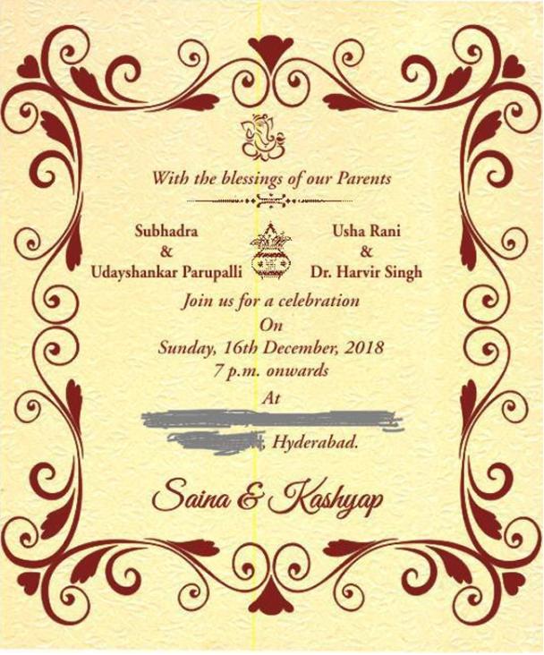 Saina Nehwal weds Parupalli Kashyap
